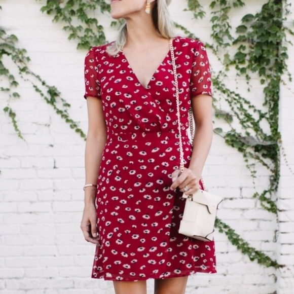 fae50e31c98 Madewell Dresses   Skirts - Madewell Seattle floral faux wrap dress